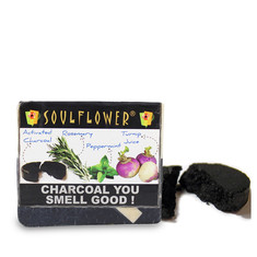 Soulflower Soap Charcoal You Smell Good (150 g)