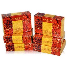 Vaadi Herbals Luxurious Saffron Soap Skin Whitening Therapy (Super Value Pack Of 6 (5 + 1 Free) (75 g X 6)