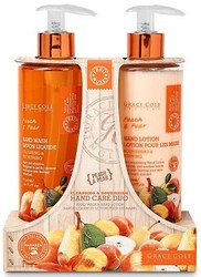 Grace Cole Peach & Pear Cleansing & Nourishing Hand Care Duo Hand Wash & Hand Lotion