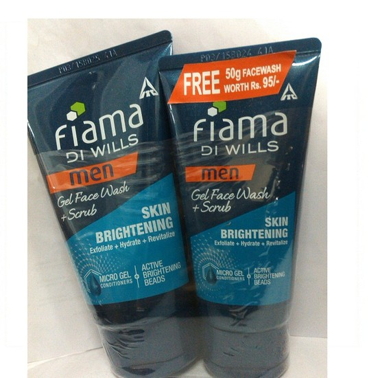 Fiama Di Wills Men Skin Brightening Gel Facewash (100 G) + Free Fiama Di Wills Men Skin Brightening Gel Facewash (50 G)