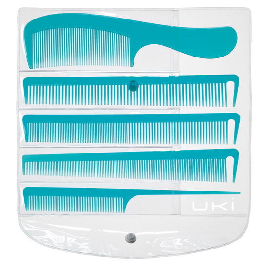 UKI Comb Set Of 5 Blue
