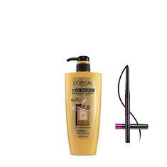 L'Oreal Paris 6 Oil Nourish Shampoo (640 Ml) + FREE L'Oreal Paris Kajal Magique Supreme Black