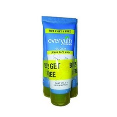 Everyuth Naturals Oil Clear Lemon Face Wash Buy 2 Get 1 Free (3 X 50 G)