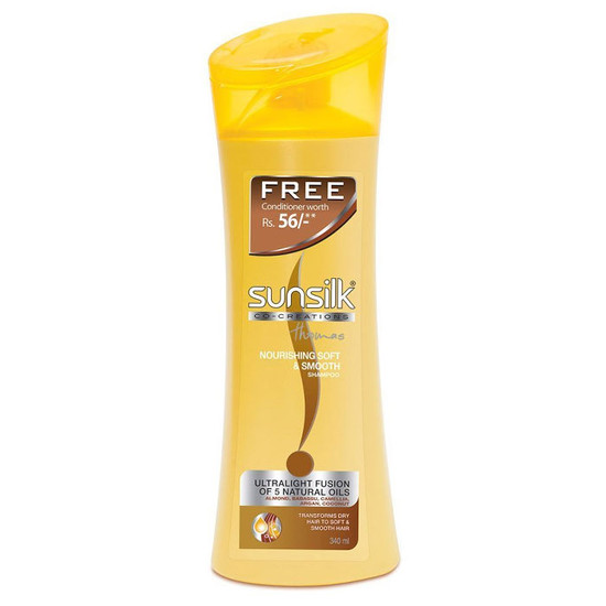 Sunsilk Nourishing Soft & Smooth Shampoo (340 Ml) + Free Sunsilk Co Creation Nourishing Soft & Smooth Conditioner (80 Ml)